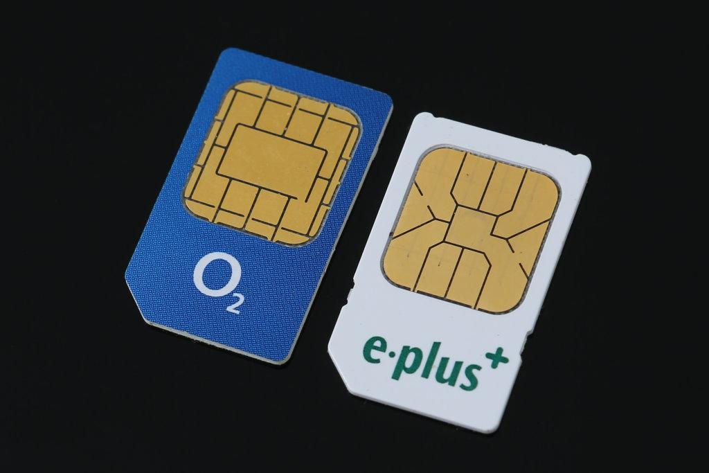 O2 und E-Plus SIM-Karten