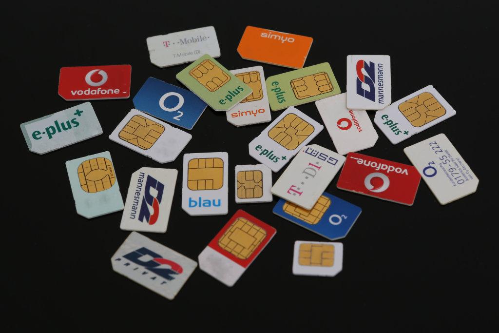 Verschiedene SIM-Karten