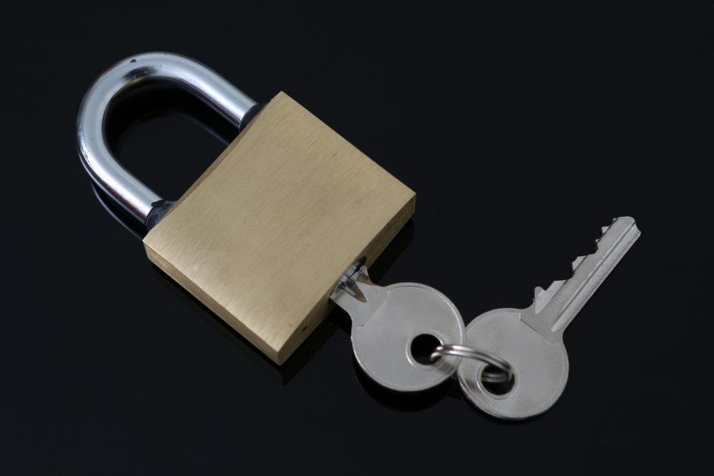 Vorhängeschloss mit Schlüssel