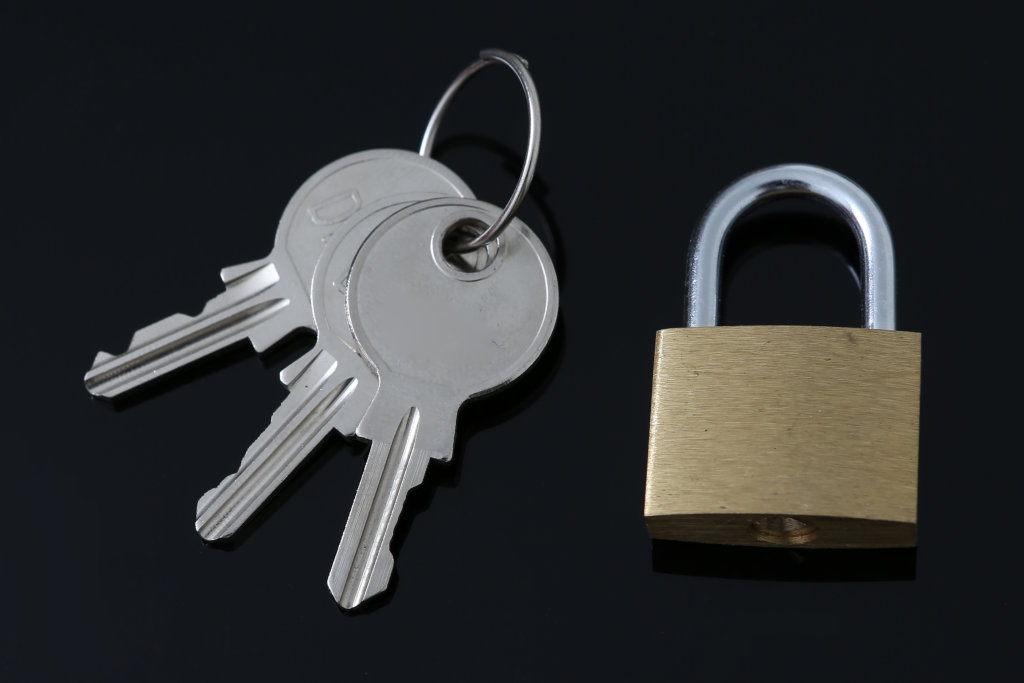Schlüssel mit Schloss