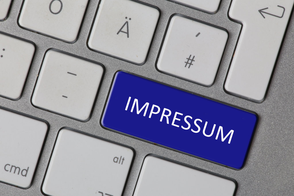 Impressum (blau)