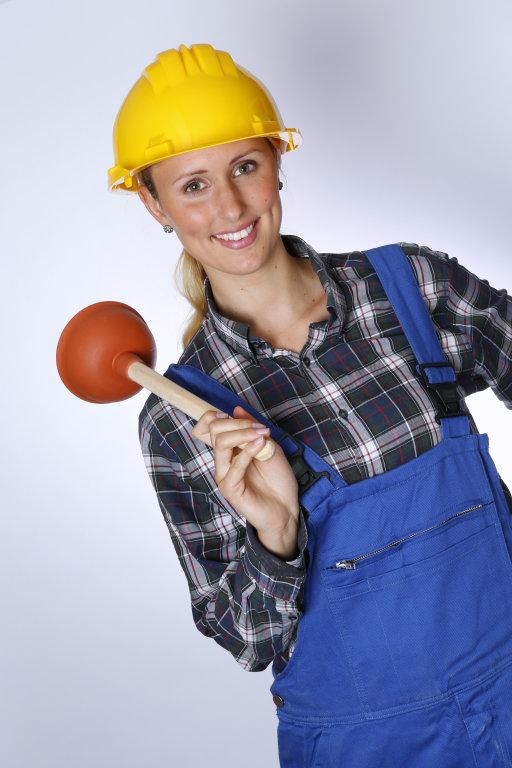 Bauarbeiter mit Pümpel