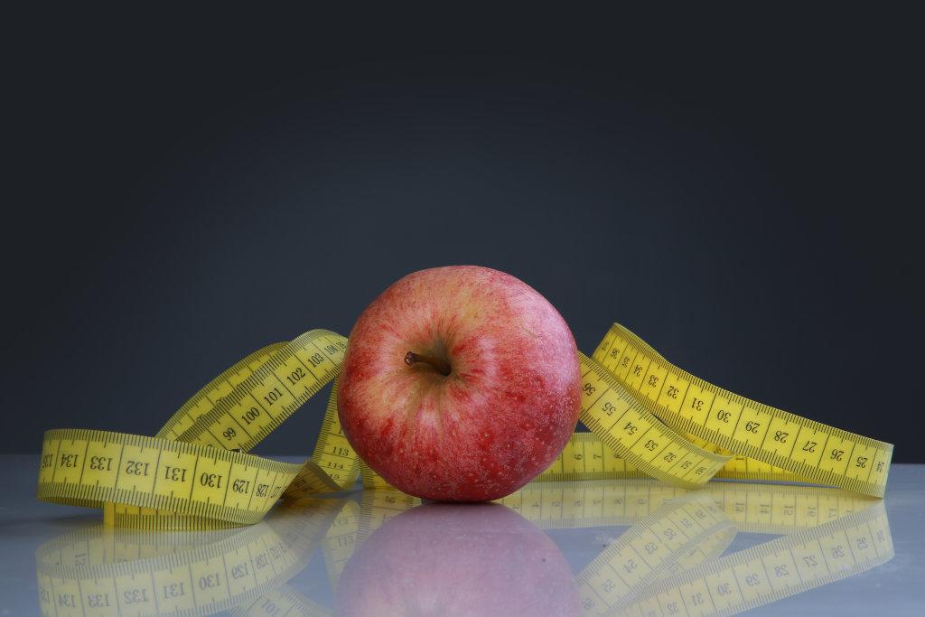 Apfel und Maßband