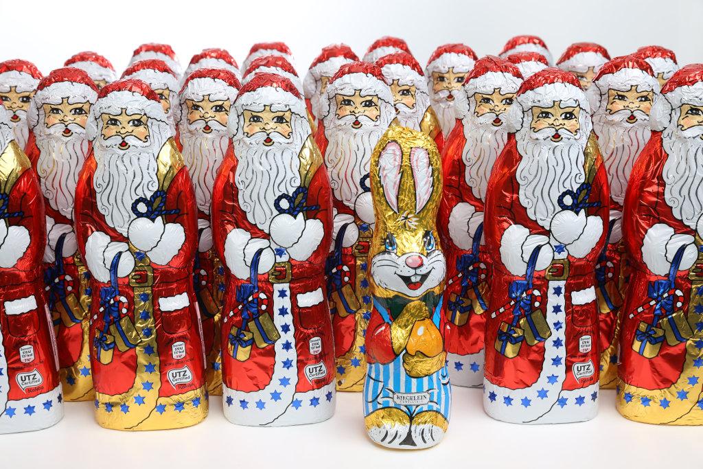 Weihnachtsmann und Osterhase