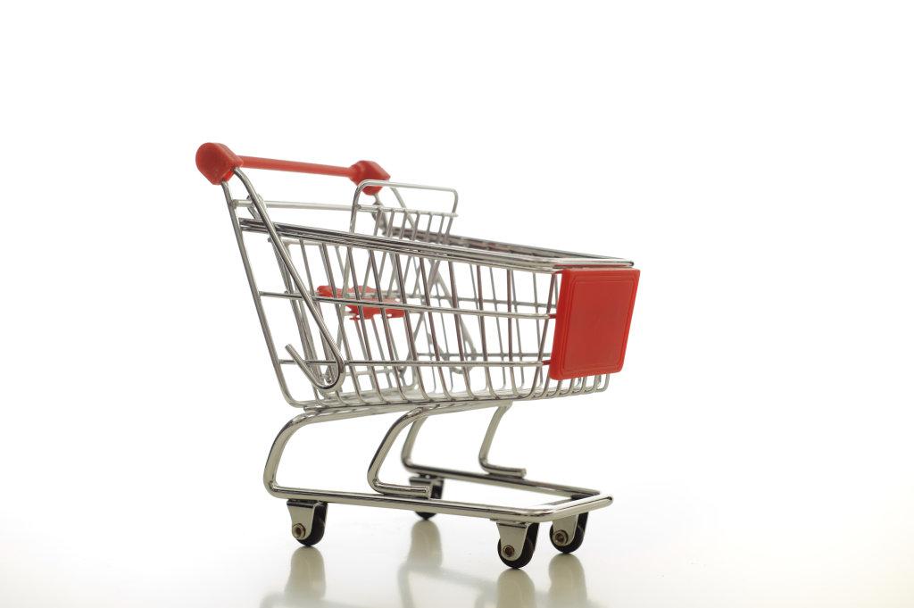 Einkaufswagen ohne Inhalt