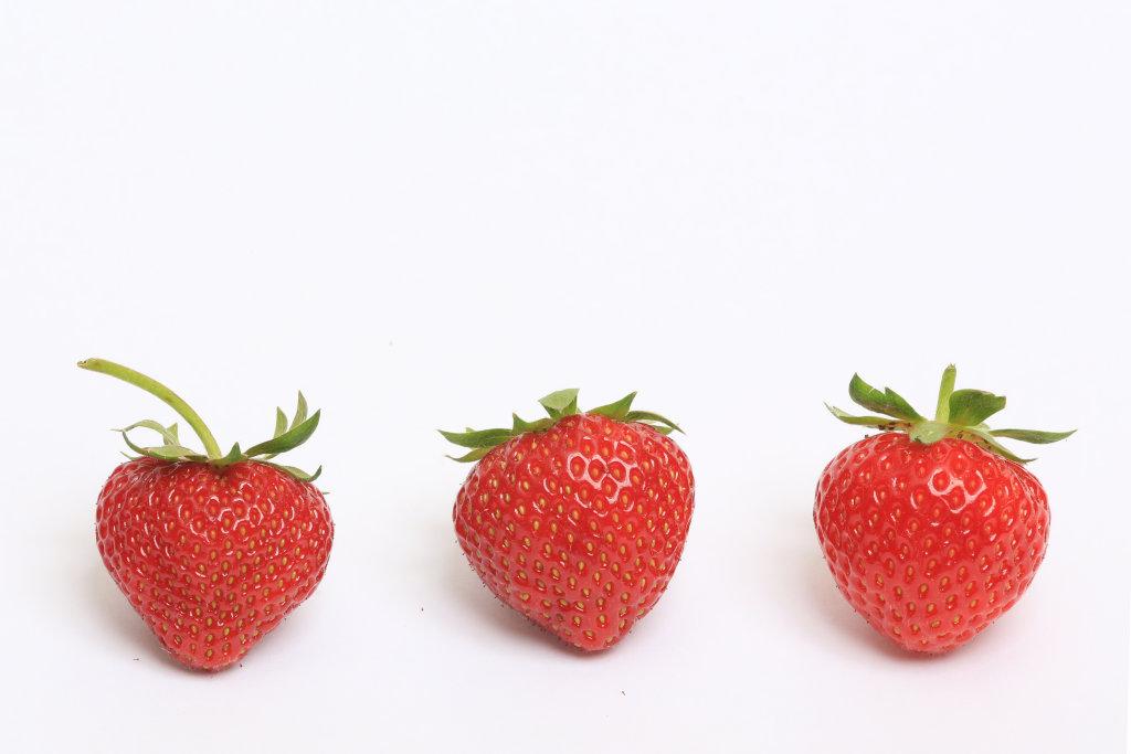 3 Erdbeeren