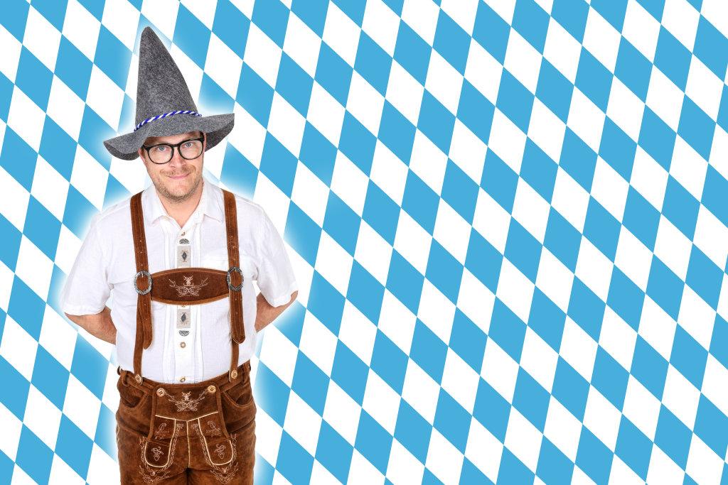 Bayer in Lederhose mit Hut
