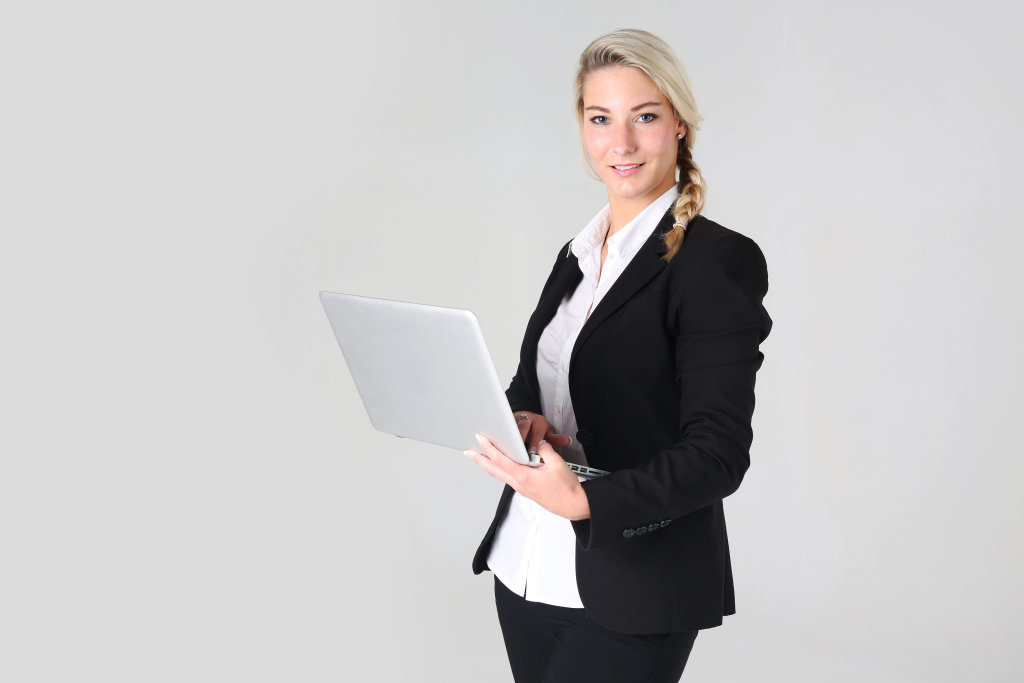 Business Frau mit Notebook