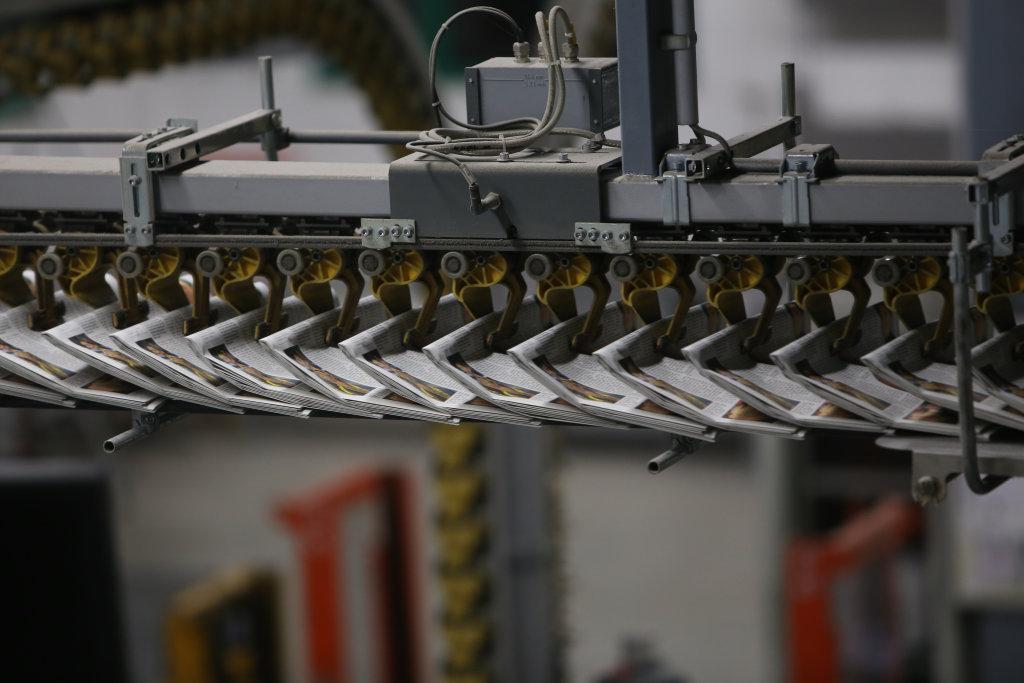 Druckerei Transportband