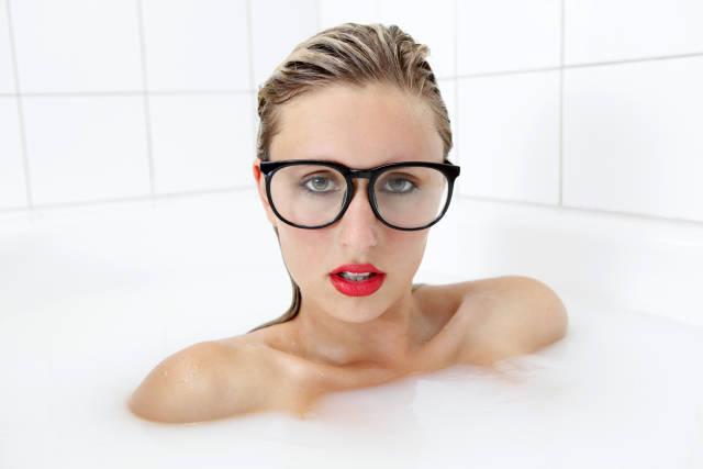 Nerd in der Badewanne