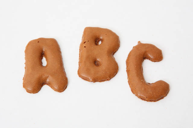 A B C aus Keksen