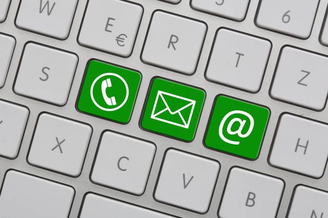 Kontaktsymbole grün