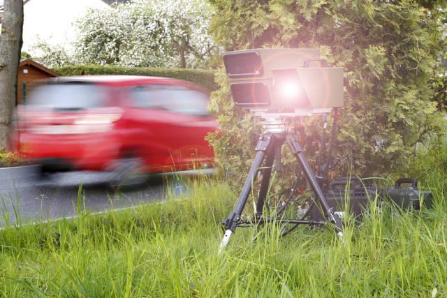 Radarfalle mit Rotlicht