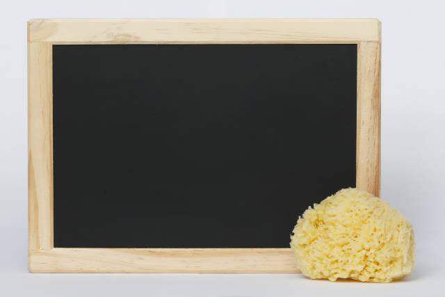 Tafel mit Schwamm