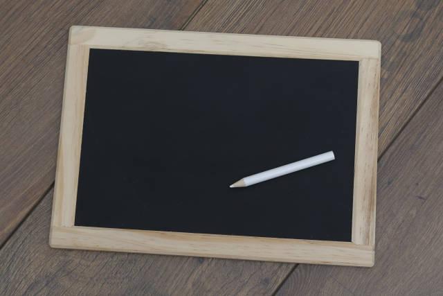 Tafel auf Holz