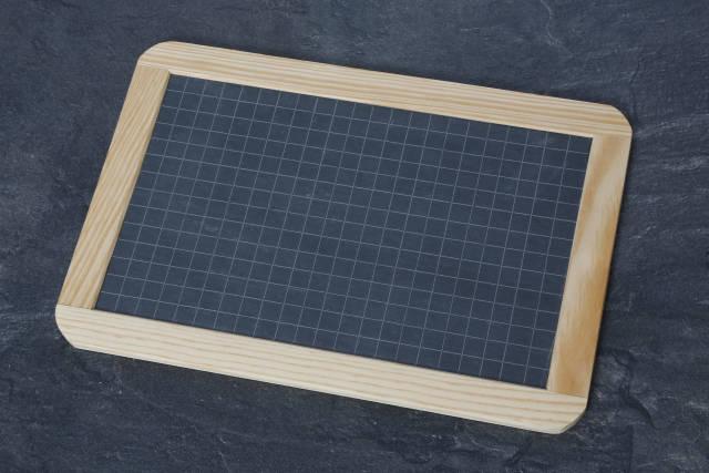 Tafel mit Rechenkästchen