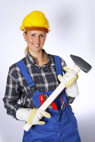 Bauarbeiter mit Abbruchhammer