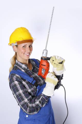 Handwerker mit Bohrhammer