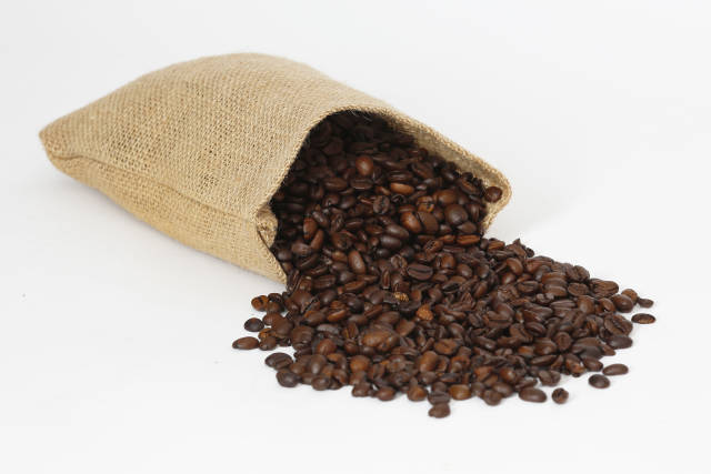umgefallener Sack Kafee