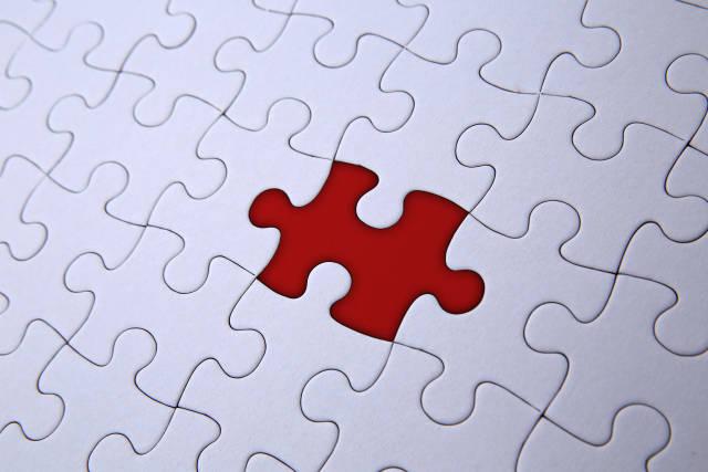 fehlendes Puzzle-Teil