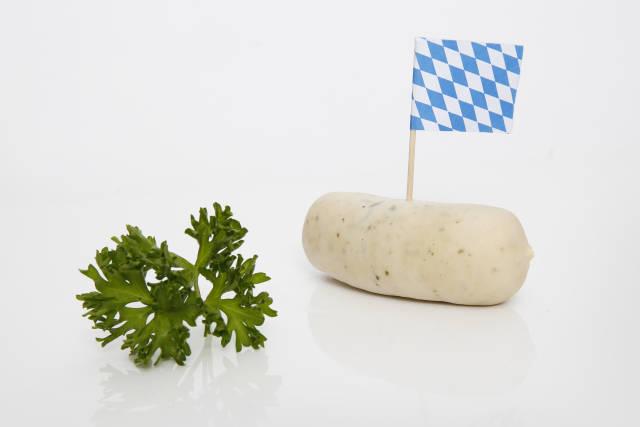 bayrische Weißwurst zum Oktoberfest