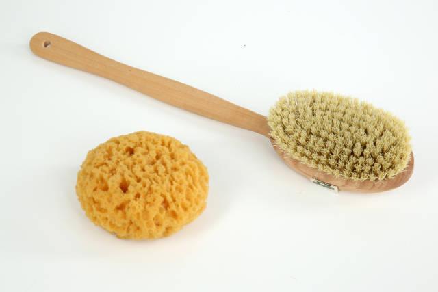 Bürste und Schwamm