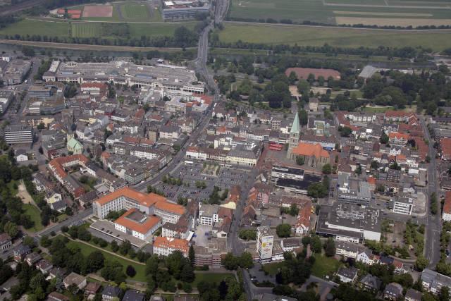 Stadt Hamm - Luftbild der Innenstadt