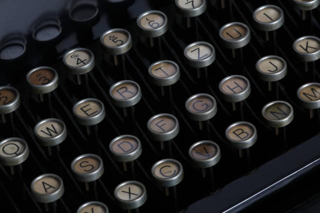 historische Schreibmaschine