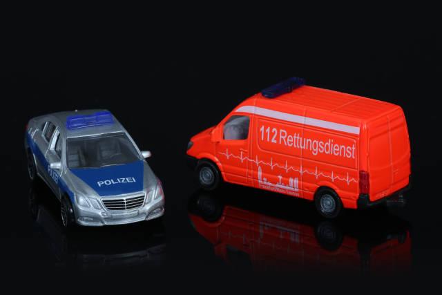 Polizei und Rettungsdienst