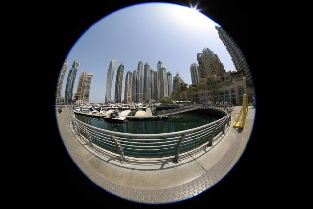 Marina von Dubai (Fisheye)