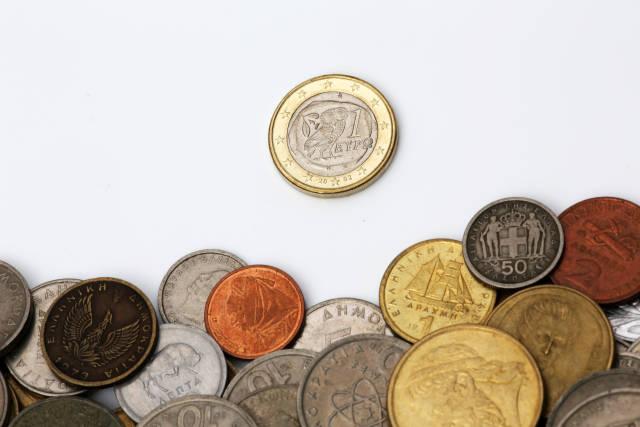 Euromünze, Drachmen und Lepta