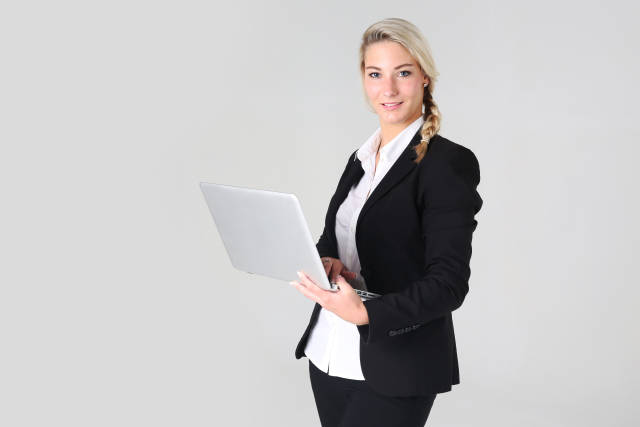 Business Frau mit Notebook