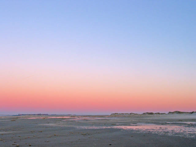 Nordsee Strand Sonnenuntergang