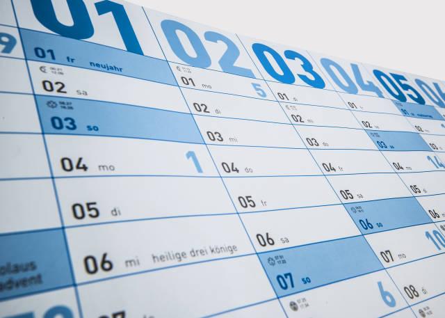 Jahres Termin Kalender