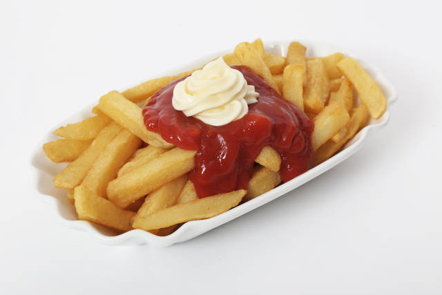 Pommes rot weiss