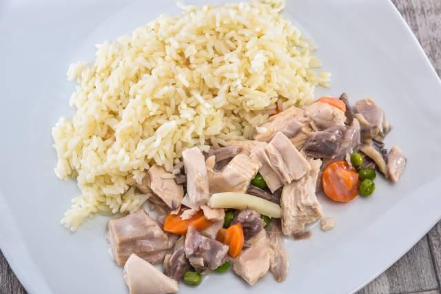 Hühnerfrikassee mit edlem Gemüse