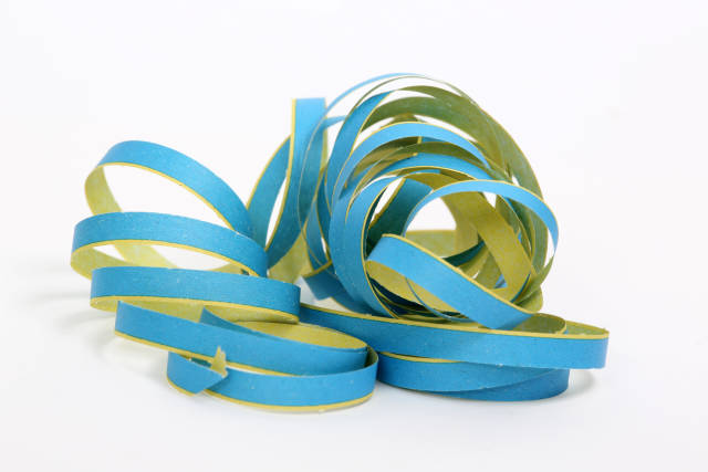 Luftschlange blau