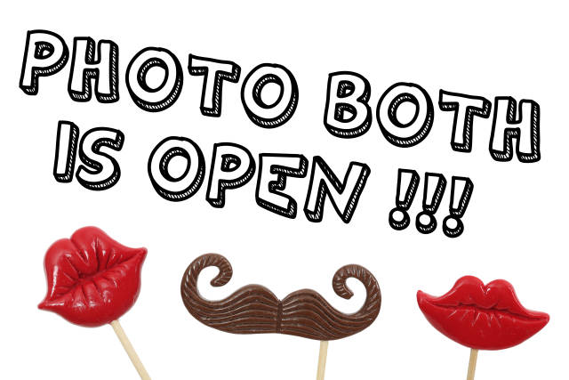 Photobooth is open Schild