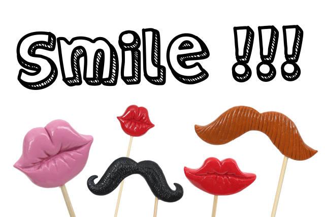 Smile Schild für Fotobox und Photobooth