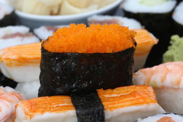 Sushi mit Caviar