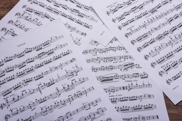 Noten mit klassischer Musik