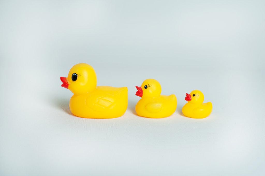 Enten aus Plastik