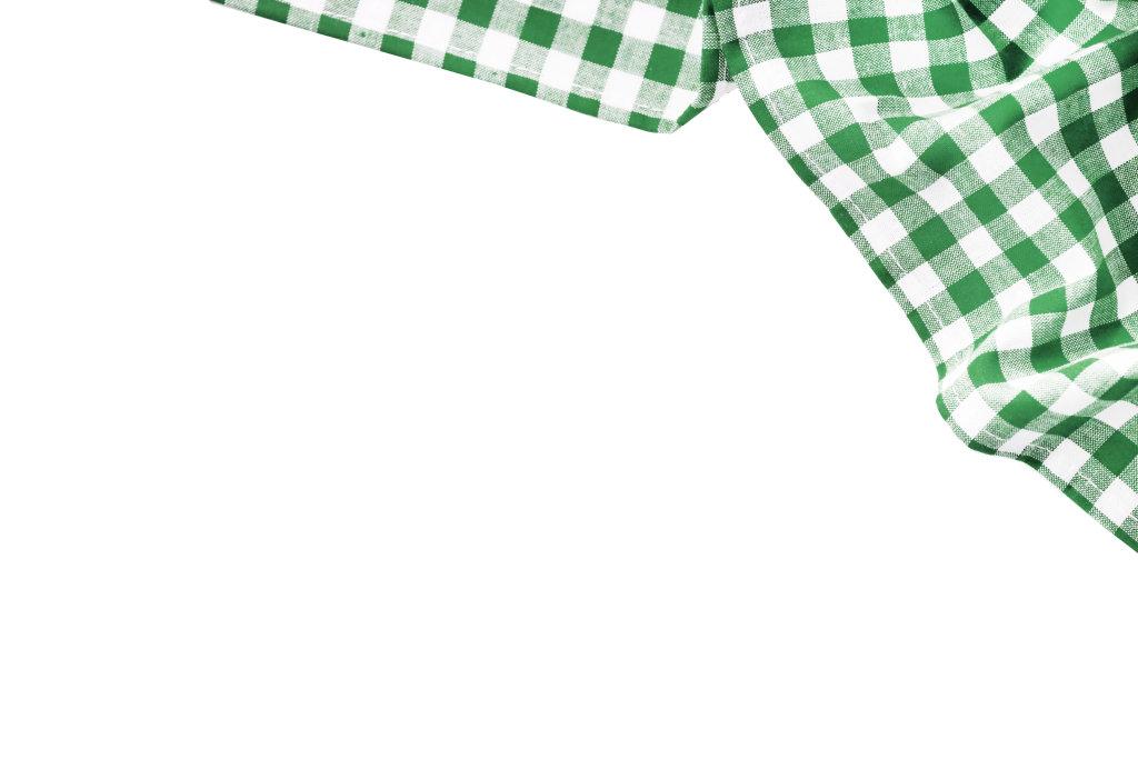 grün weißer Stoff