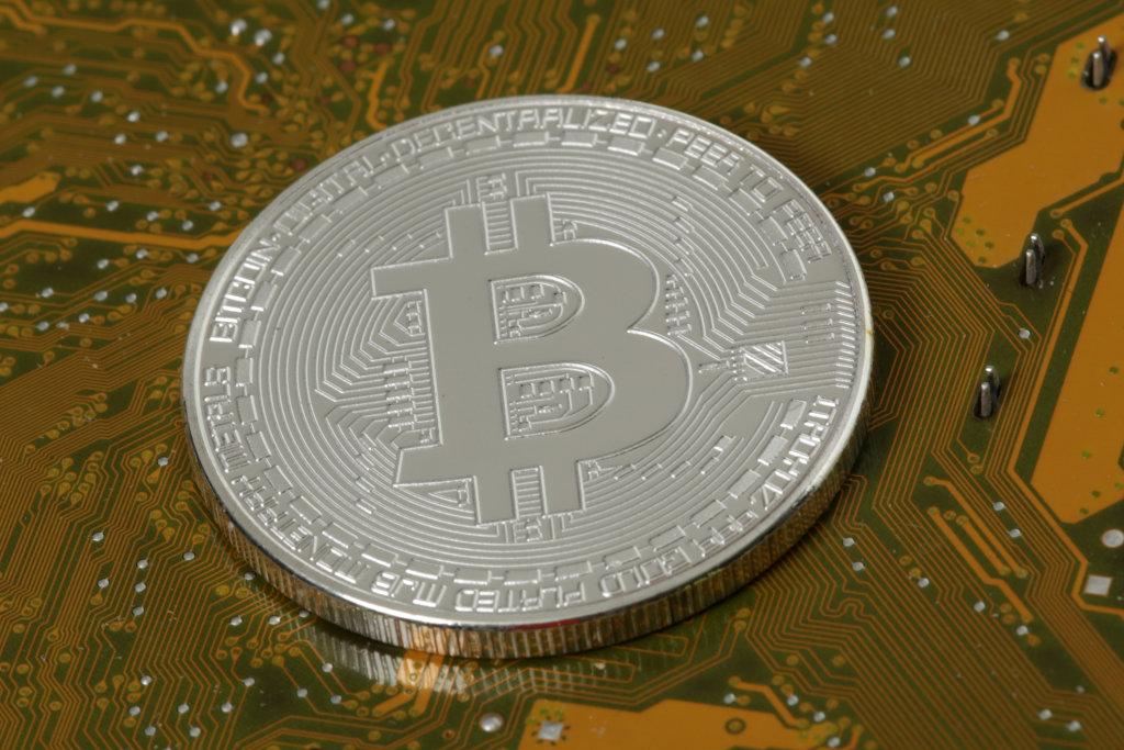 Dash Coin auf Platine