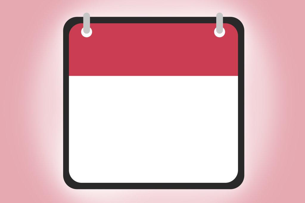 Kalenderblatt neutral