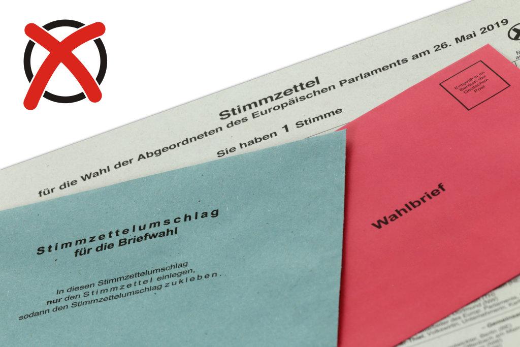 Unterlagen für Briefwahl