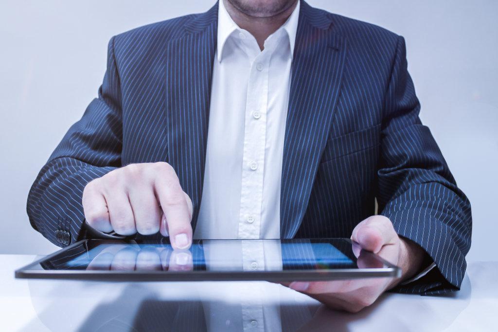 Arbeiten mit dem Tablet