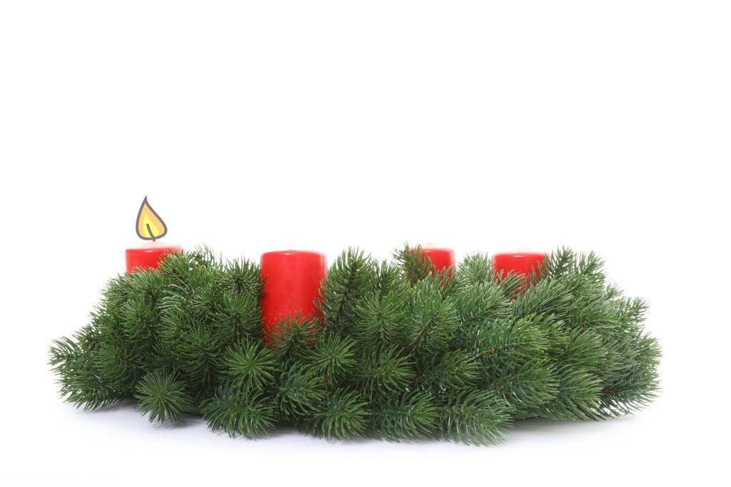 Adventkranz - 1. Advent