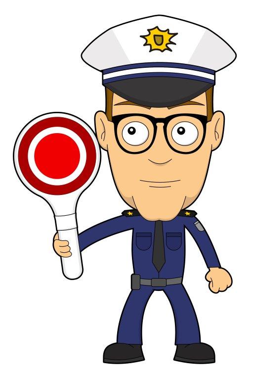 Nerd als Polizist