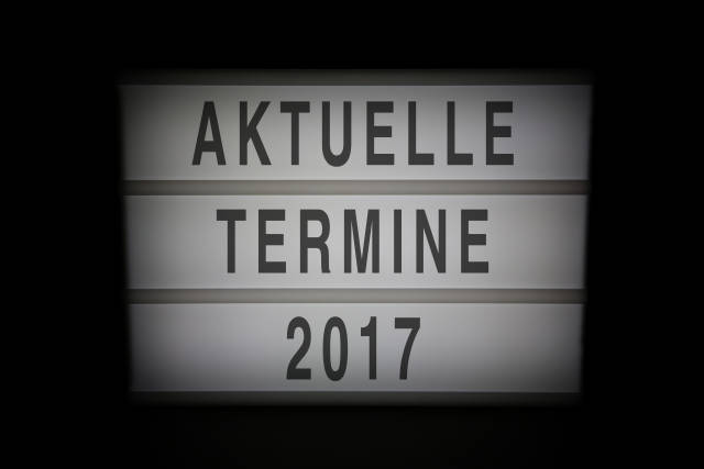 Aktuelle Termine 2017